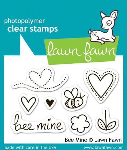 LF0439 S ~ BEE MINE ~ CLEAR STAMPS BY LAWN FAWN